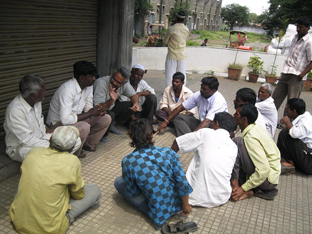 Meeting with cart owners