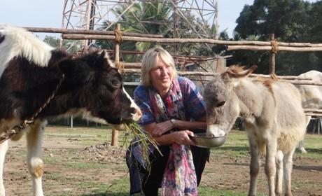 Ingrid feeding Gopal & Ramya at HRB